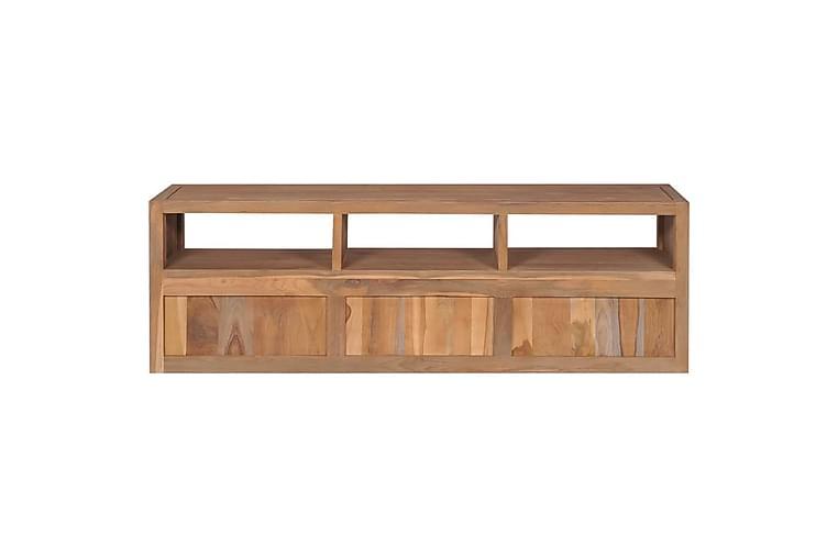 TV-skjenk heltre teak naturlig etterbehandling 120x30x40cm - Møbler - Medie- & TV-møbler - TV-benk & mediabenk