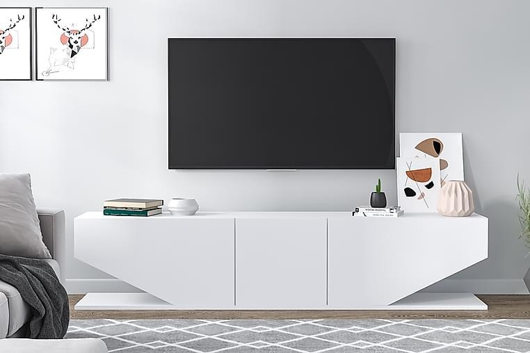Vanered TV-benk - Hvit - Møbler - Medie- & TV-møbler - TV-benk & mediabenk