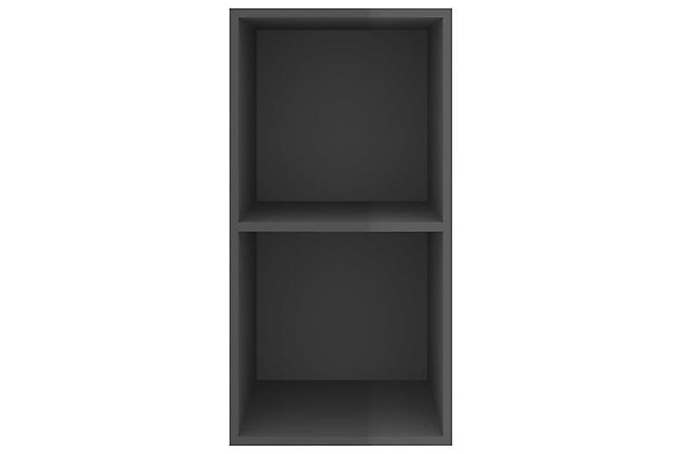 Vegghengt TV-benk høyglans grå 37x37x72 cm sponplate - Grå - Møbler - Medie- & TV-møbler - TV-benk & mediabenk