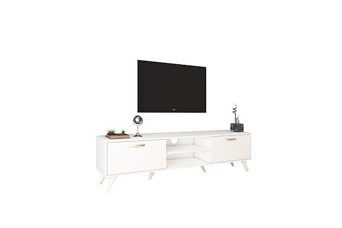Virkesbo TV-Benk 180 cm - Hvit - Møbler - Medie- & TV-møbler - TV-benk & mediabenk