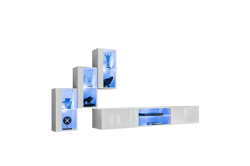 Apryl TV-møbelsett + LED - Møbler - Medie- & TV-møbler - TV-møbelsett