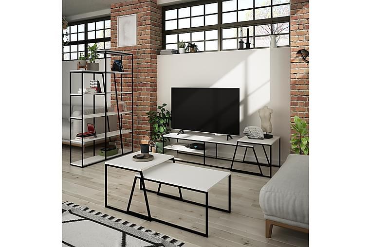 Bodsjö TV-Møbelsett 163 cm - Hvit/Svart - Møbler - Medie- & TV-møbler - TV-møbelsett