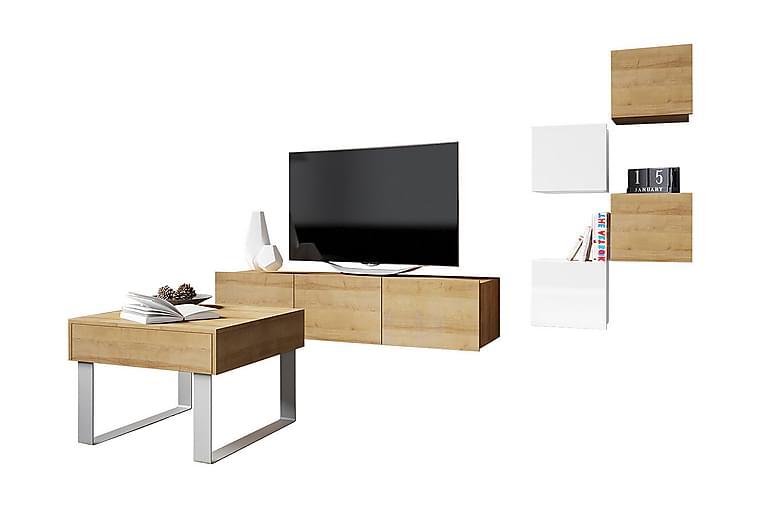 Calabrini TV-møbel - Beige - Møbler - Medie- & TV-møbler - TV-møbelsett