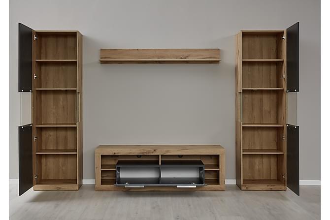Curella TV-Møbelsett - Brun - Møbler - Medie- & TV-møbler - TV-møbelsett