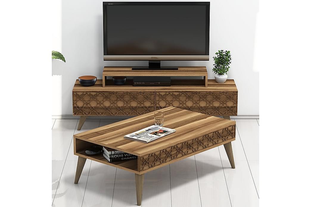 Hovdane TV-Møbelsett 140 cm - Brun - Møbler - Medie- & TV-møbler - TV-møbelsett
