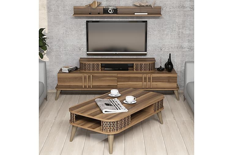 Hovdane TV-Møbelsett 168 cm - Brun - Møbler - Medie- & TV-møbler - TV-møbelsett