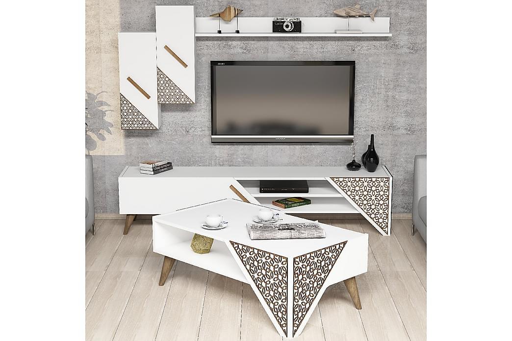 Hovdane TV-Møbelsett 180 cm - Hvit - Møbler - Medie- & TV-møbler - TV-møbelsett