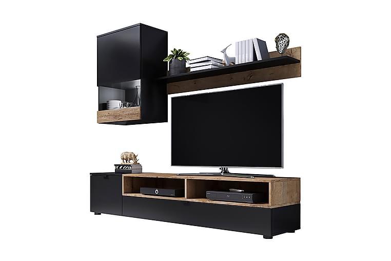 Pat Mediamøbler & LED 175x39x180 cm - Møbler - Medie- & TV-møbler - TV-møbelsett