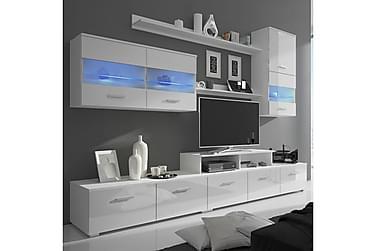 Troccoli TV-møbelsett 250 cm med LED 7 Deler