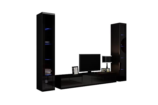 Vigo TV-møbelsett 260x40x180 cm - Hvit - Møbler - Medie- & TV-møbler - TV-møbelsett