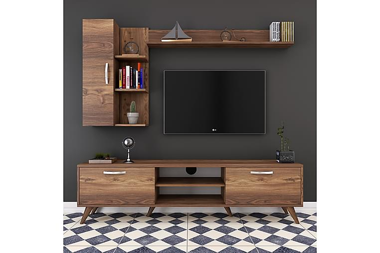 Virkesbo TV-Benk 180 cm - Brun - Møbler - Medie- & TV-møbler - TV-møbelsett