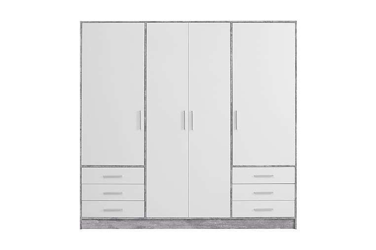 Ashgate Garderobe 207 cm - Grå/Hvit - Møbler - Oppbevaring - Garderober & garderobesystem