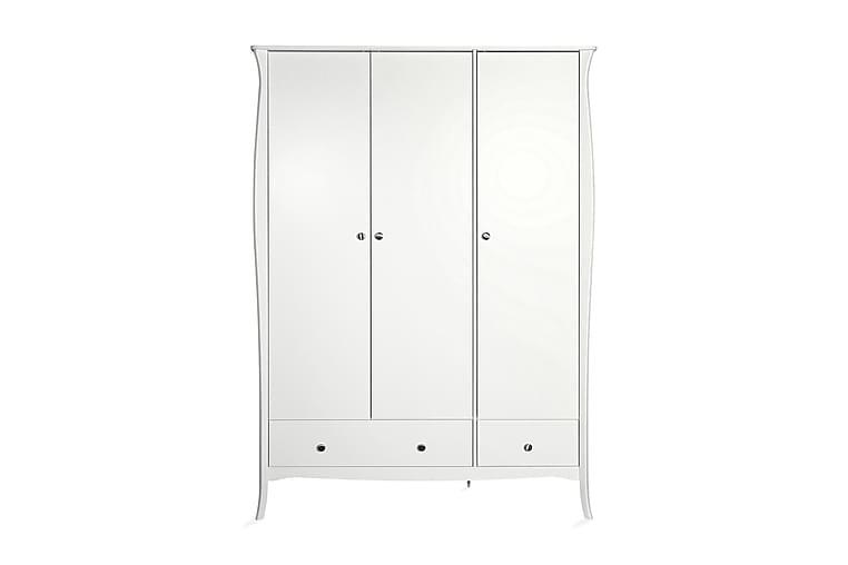 Baroque Garderobe 143 cm 3 Dører - Hvit - Møbler - Oppbevaring - Garderober & garderobesystem
