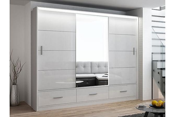 Cannock Garderobe 255 cm - Hvit - Møbler - Oppbevaring - Garderober & garderobesystem