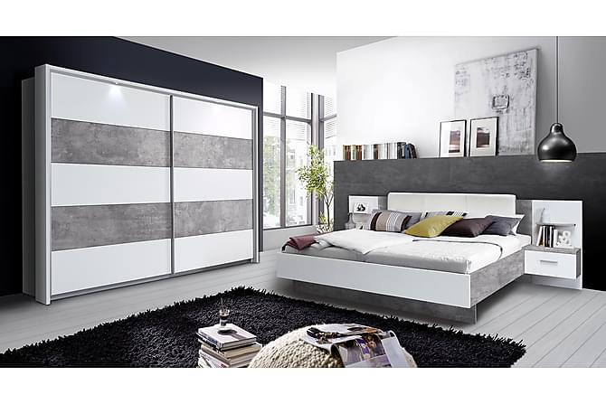 Castlemorton Garderobe 220 cm - Hvit/Grå - Møbler - Oppbevaring - Garderober & garderobesystem