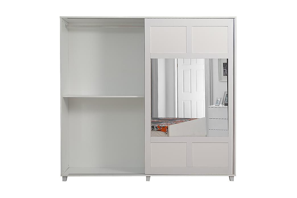 Danilah Garderobe 204 cm - Hvit - Møbler - Oppbevaring - Garderober & garderobesystem