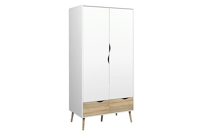 Delta Garderobe - Eik Struktur/Hvit - Møbler - Oppbevaring - Garderober & garderobesystem