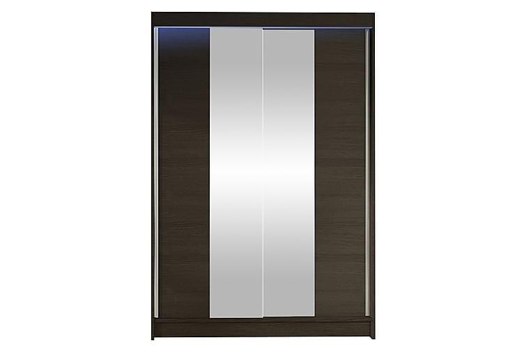 Garderobe + LED - Brun - Møbler - Oppbevaring - Garderober & garderobesystem