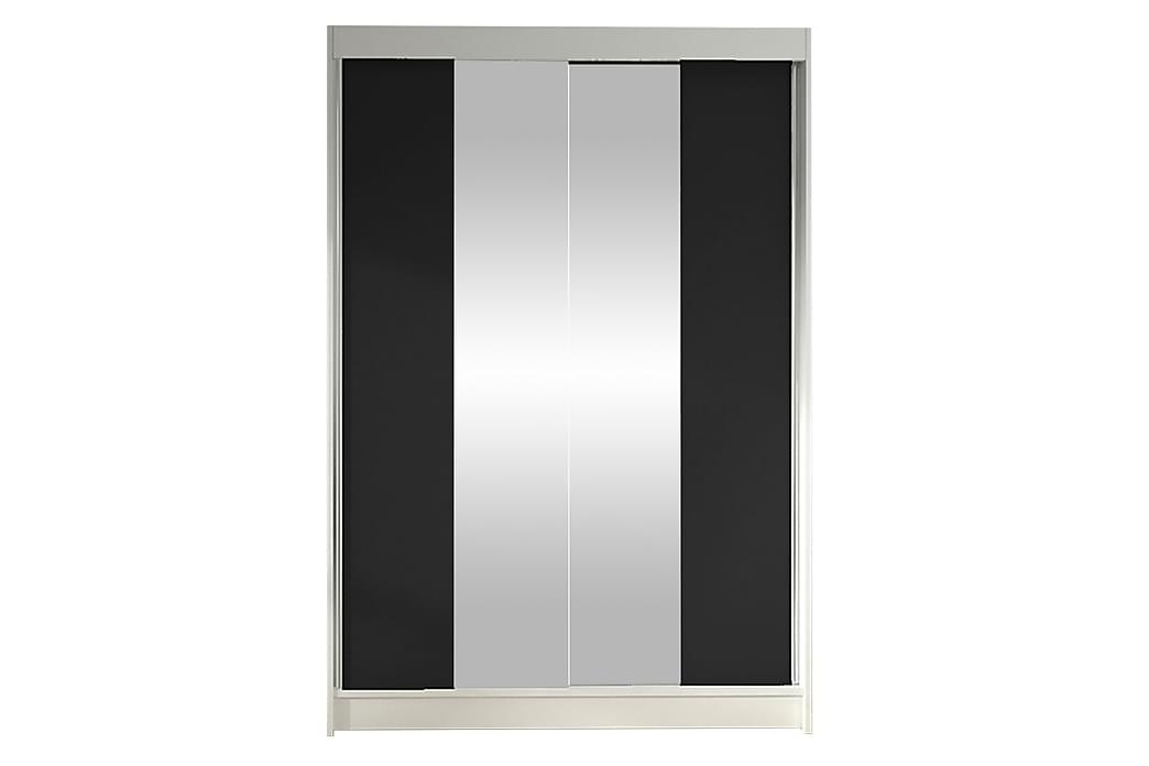 Garderobe Lino - Hvit | Svart - Møbler - Oppbevaring - Garderober & garderobesystem