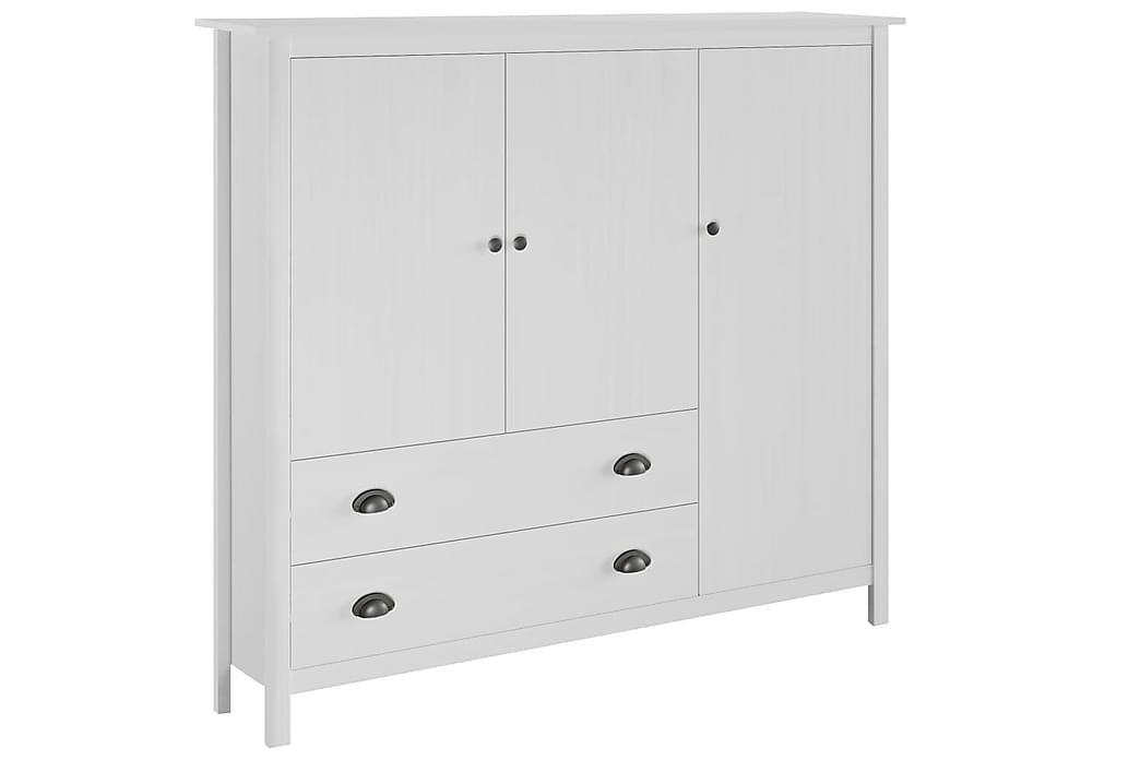 Garderobeskap 3 dører Hill Range hvit 142x45x137 cm - Møbler - Oppbevaring - Garderober & garderobesystem