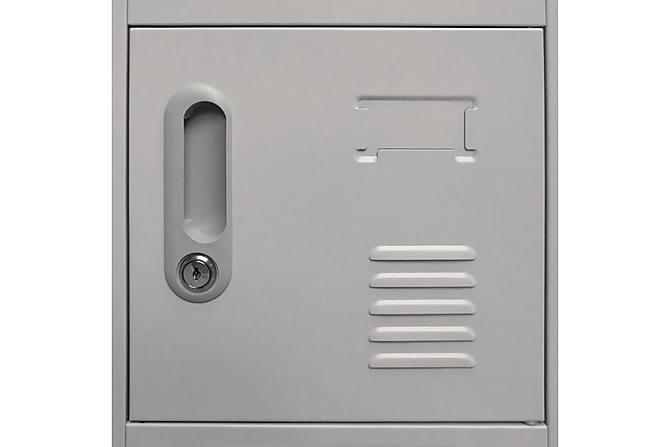 Garderobeskap med 18 rom metall 90x40x180 cm - Møbler - Oppbevaring - Garderober & garderobesystem