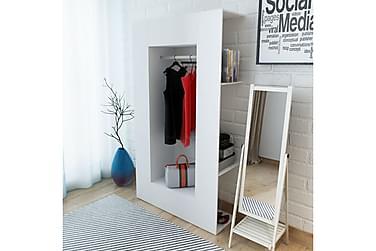 Garderobeskap sponplate 106x36,5x192 cm hvit