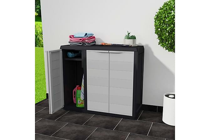 Ginnala Hageskap 97x87 cm - Svart/Grå - Møbler - Oppbevaring - Garderober & garderobesystem