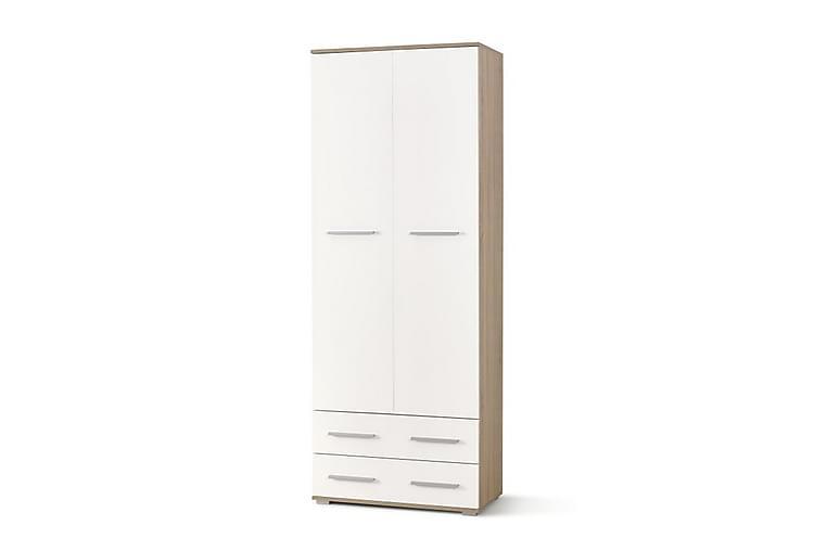 Lima Garderobe 77 cm - Hvit/Eik - Møbler - Oppbevaring - Garderober & garderobesystem