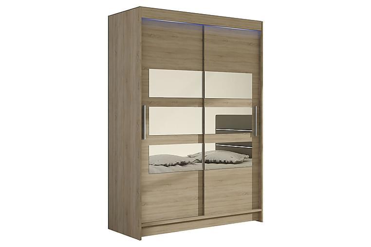 Miami Garderobe 120x58x200 cm - Beige - Møbler - Oppbevaring - Garderober & garderobesystem
