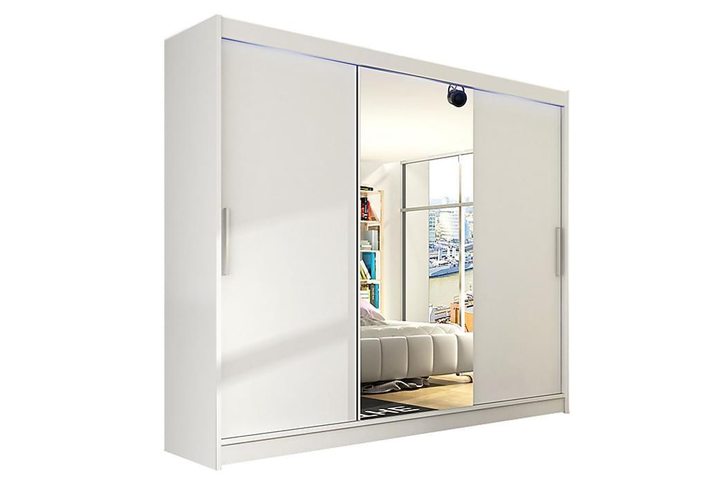 Paige Garderobe 250x58x215 cm - Hvit - Møbler - Oppbevaring - Garderober & garderobesystem