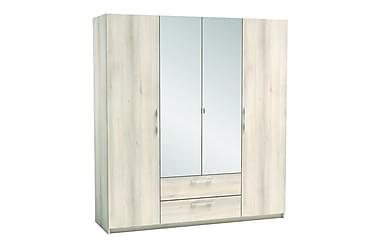 Quentin Garderobe 186 cm 4 Dører 2 Skuffer Speil