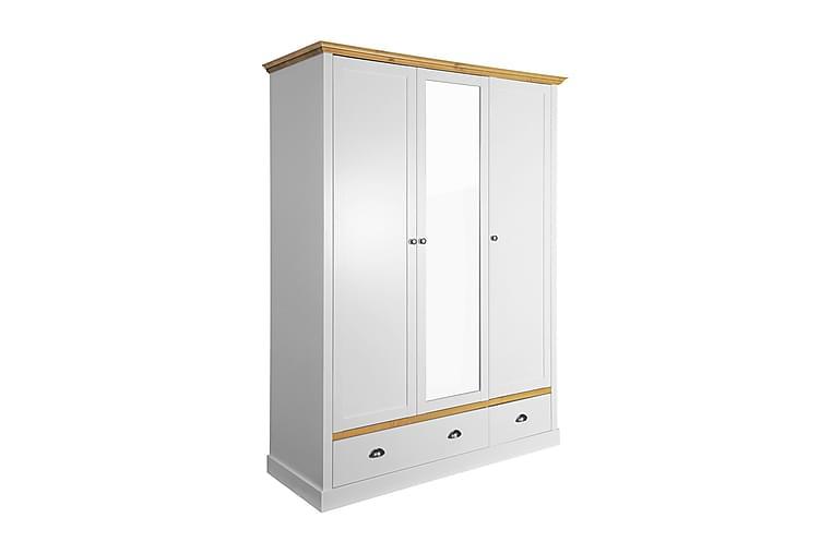 Sandringham Garderobe 148 cm - Hvit/Natur - Møbler - Oppbevaring - Garderober & garderobesystem