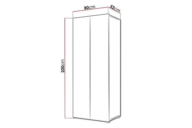 Tessan Garderobe 80 cm - Hvit - Møbler - Oppbevaring - Garderober & garderobesystem