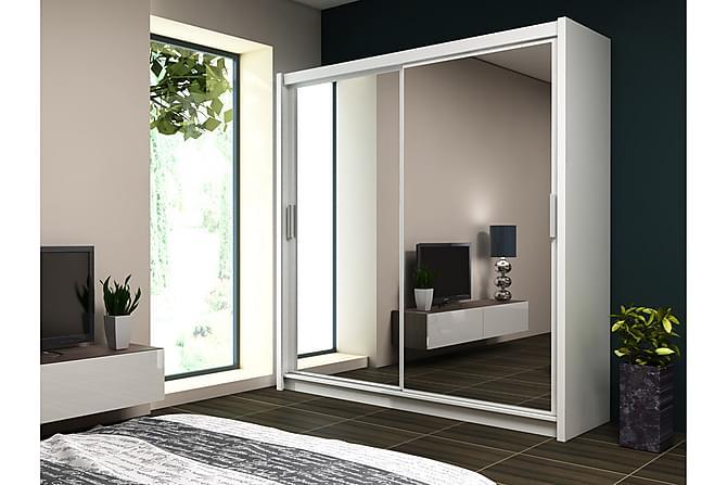 Valga Garderobe 203 cm - Hvit - Møbler - Oppbevaring - Garderober & garderobesystem