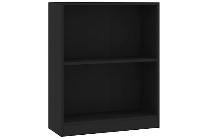 Bokhylle svart 60x24x74,5 cm sponplate - Møbler - Oppbevaring - Hyller