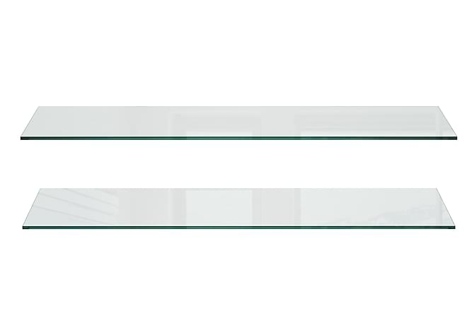 Fernanda Glasshyller 77 cm 2-pk - Glass - Møbler - Oppbevaring - Hyller