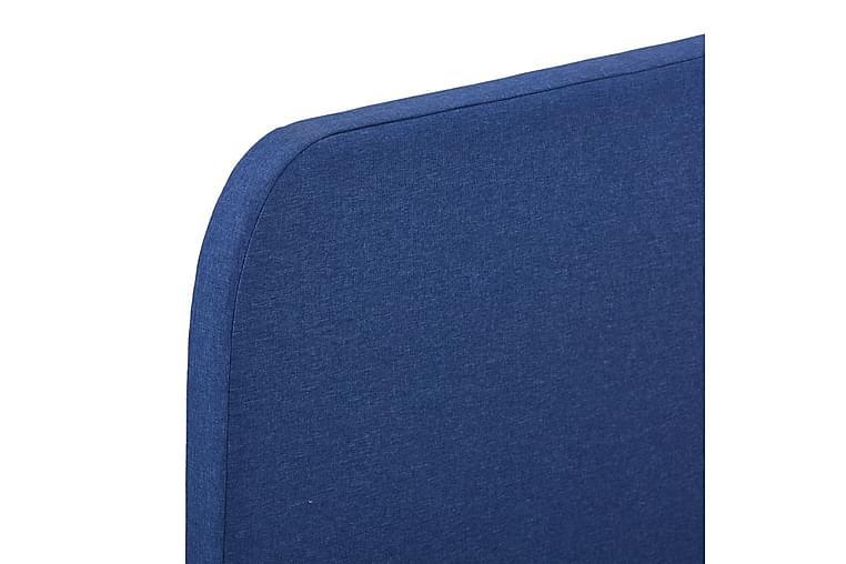 Sengeramme blå stoff 120x190 cm - Møbler - Oppbevaring - Hyller