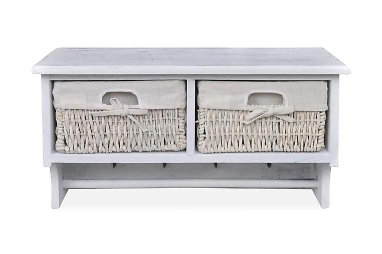 Vegghylle hvit 60x23,5x33 cm keisertre - Møbler - Oppbevaring - Hyller