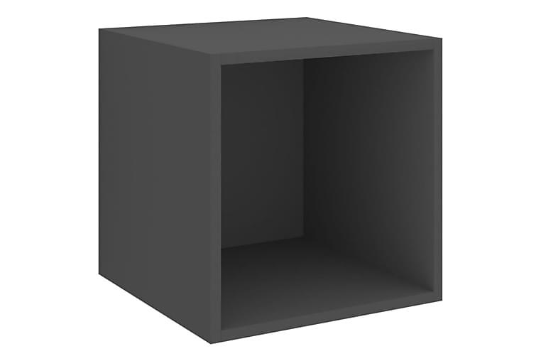 Veggskap 37x37x37 cm sponplate grå - Grå - Møbler - Oppbevaring - Oppbevaringsskap
