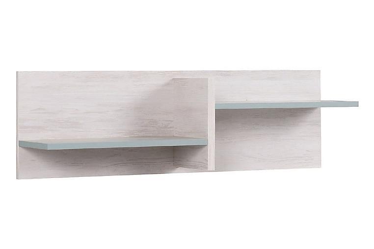 Vintra Vegghylle 100 cm - Hvit/Blå - Møbler - Oppbevaring - Hyller