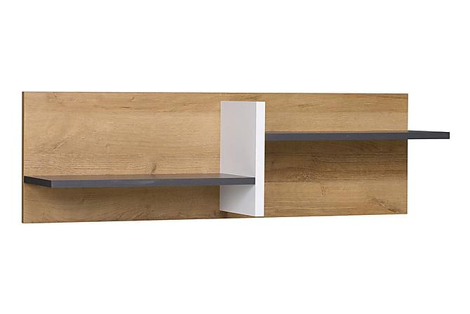 Vintra Vegghylle 100 cm - Hvit/Grå/Tre - Hagemøbler - Tilbehør - Hyller