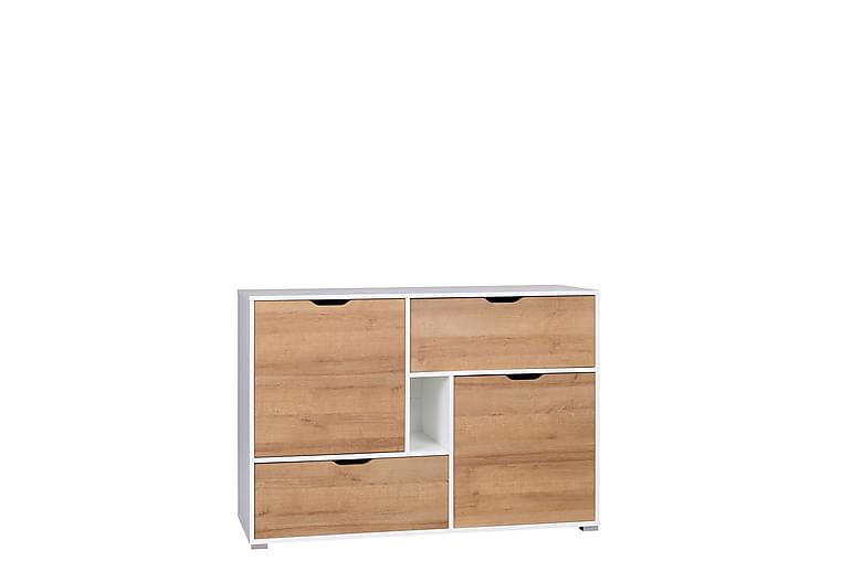 Iwa Kommode 40x132 cm - Hvit/Eik - Møbler - Oppbevaring - Kommode