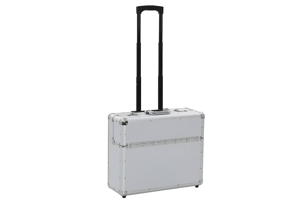 Pilotkoffert 54x44x21 cm sølv aluminium - Silver - Møbler - Oppbevaring - Oppbevaringsbokser & kurver