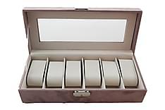 Skrin for Klokker 30,5x13x7,5 cm Rosa Fløyel