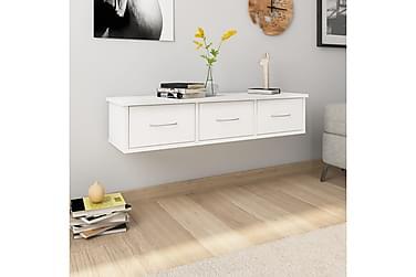 Veggskuff hvit 90x26x18,5 cm sponplate