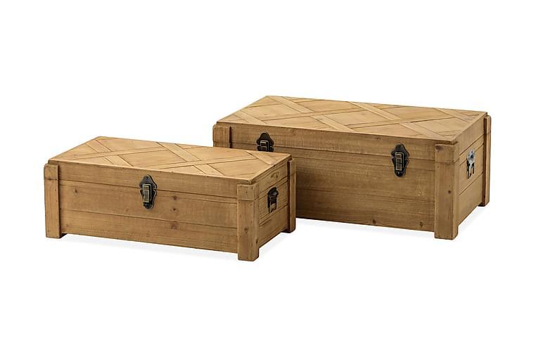Namer Kiste 32x22 cm - Tre/Natur - Møbler - Oppbevaring - Oppbevaringskiste & sengekiste