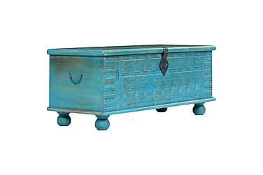 Oppbevaringskiste heltre mango 100x40x41 cm blå