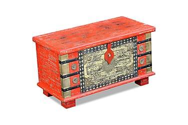 Oppbevaringskiste Rødt Mango Tre 80x40x45 cm