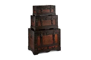 Trunks Koffert av Tre Rett Topp 76/56/66 cm