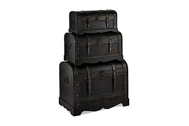 Trunks Koffert av Tre Rund Topp 76/56/66 cm Rund